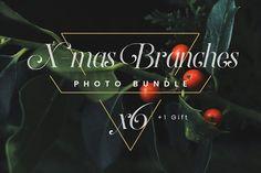X-mas Branches // Photo Bundle by emm van emm on @creativemarket