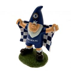 Traditional looking Chelsea FC Gnome which would make a great addition to any fan's garden. FREE DELIVERY on all of our gifts. Chelsea Fc, Chelsea Football, Football Team, Chelsea Wallpapers, Football Memorabilia, Everton Fc, Gnome Garden, Online Gifts, Gnomes
