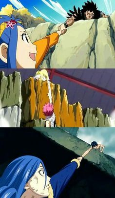 Do you realize how strong Lucy would have to be to keep hold of Natsu? If the laws of physics were applied anyway.