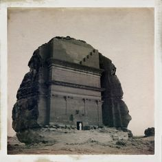 Nebatean ruins of Mada'in Saleh, Saudi Arabia, circa 1960.