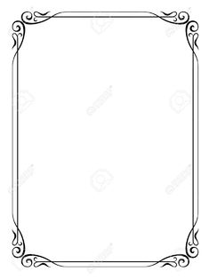 formal black and white borders for word - Google Search