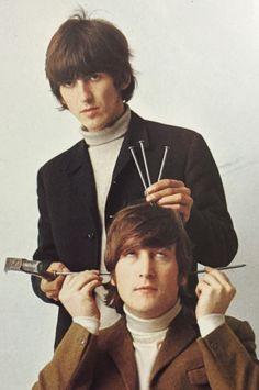 George Harrison and John Lennon - The Beatles