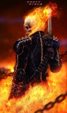 This week features some fantastic art on Ghost rider. Ghost Rider is the name of several fictional supernatural anti-heroes appearing in comic books published by Marvel Comics. Marvel had previousl… Ghost Rider 2, Ghost Rider Marvel, Comic Book Characters, Marvel Characters, Comic Character, Ghost Rider Wallpaper, Marvel Wallpaper, Fantasy Anime, 3d Fantasy