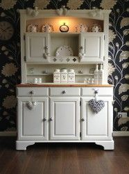 STUNNING DUCAL SOLID PINE WELSH DRESSER/DISPLAY/KITCHEN~W/ LIGHTS~SHABBY CHIC