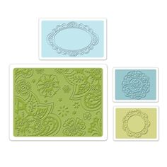 Sizzix Textured Impressions Embossing Folders 4PK - Free Fall Florals Set $10.99