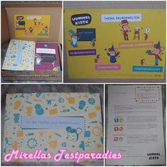 Ich liebe Überraschungsboxen und spätestens seit der Degustabox, die wir monatlich bekommen, auch der Rest der Familie. Diesmal durften wir eine Box für Kinder testen und zwar die Wummelkiste, eine Bastel-Box.