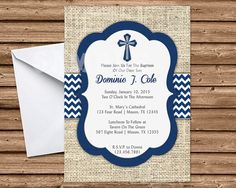 Baptism Invitation Boy Baptism Invitations by PartyPrintExpress
