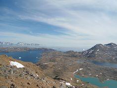 View from the Praestefjeld mountain, Tasiilaq, Greenland - Vue depuis Praestefjeld, Tasiilaq, Groenland. Photo Line Lykke Hagen.
