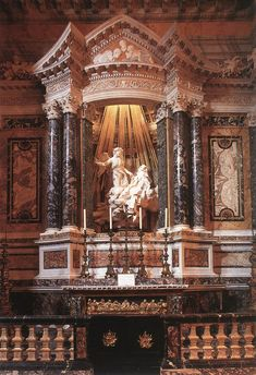 St. Teresa in Ecstasy. Cornaro Chapel, c. Santa Maria Vittoria, Rome, Italy