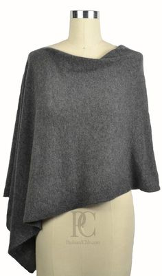 ac0196ab9 Claudia Nichole Cashmere Dress Topper Poncho Graphite Grey Essential  Wardrobe Pieces, Poncho Dress, Dress