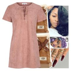 """Untitled #946"" by kodakdej ❤ liked on Polyvore featuring UGG Australia, Casetify and Glamorous"