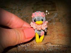 Little Cute Amigurumi Floral Duck Crochet Miniature Collectible / Micro Crochet / Amigurumi Duck / Duck Miniature / Vintage Style Waldorf by ShortYarnStories on Etsy