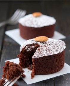 Serve up Chocolate Almond Flour Cakes for Two using this healthy dessert recipe.
