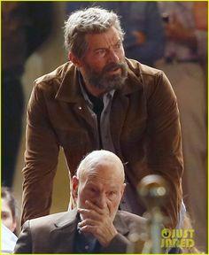 Hugh Jackman Films 'Wolverine 3' Scenes with Patrick Stewart!