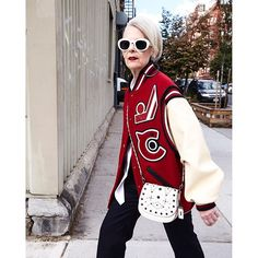 """refinery29 """"Age is never a variable I use to make decisions about what I wear."""" — Lyn Slater, 63. #ad What dressing-for-your-age pieces of advice do you ignore?  Photographed by @orbitral #R29xCoach #CoachFall2016 2016/10/19 22:56:24"""