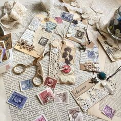 Vintage Tags, Vintage Ephemera, Vintage Paper, Card Tags, Gift Tags, Book Markers, Fabric Journals, Handmade Tags, Handmade Crafts