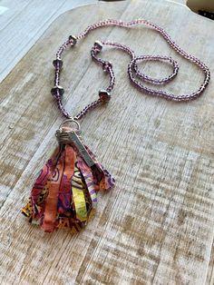 goddess boho gypsy style necklace Onyx with garnet electroformed copper pendant