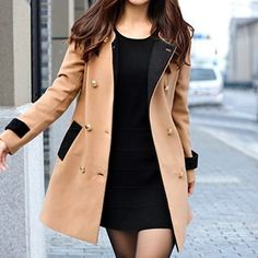 Buy 'Rocho – Two-Tone Double Breasted Coat' with Free Shipping at YesStyle.co.uk. Browse and shop for thousands of Asian fashion items from China and more!