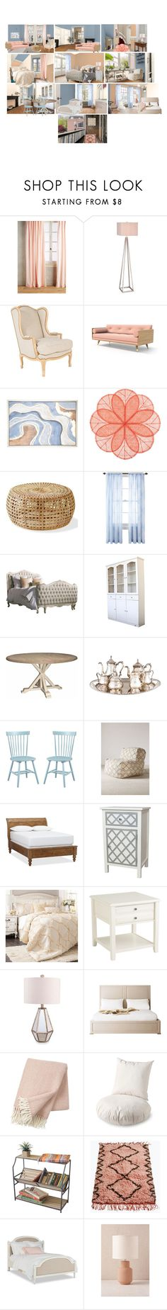 """Aleutian, Sociable, Fragile Beauty, Downy"" by flapper-shoes ❤ liked on Polyvore featuring interior, interiors, interior design, home, home decor, interior decorating, Anthropologie, Catalina, Deborah Rhodes and JCPenney Home"