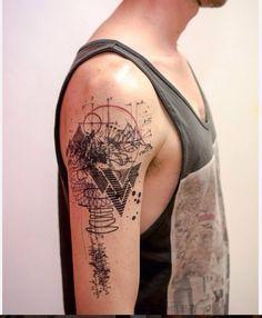 Tattoo by Mowgli Artist   #tattoo #lines #mowgli #newart #art