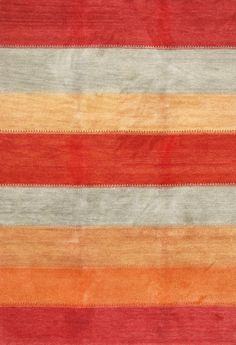 Rugsville Gabbeh Stripes Red Rust Orange Gold Wool 13237 Rug