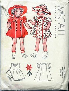 """McCall 1162 ©1937 Vintage 22"""" Doll Outfits with Transfer Sewing Pattern   eBay"""