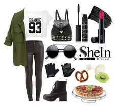 """~Shein-army with a touch of femininity~"" by skye63190 ❤ liked on Polyvore featuring VILA, Charlotte Russe, Casall, L'Oréal Paris, NARS Cosmetics and Laura Geller"