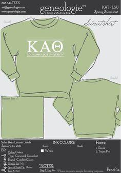 Theta crewneck sweatshirt