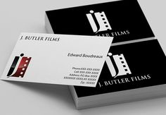 Nice J. Butler films business cards templates with shiny logo for inspiration thanks to Logodesignbizz.