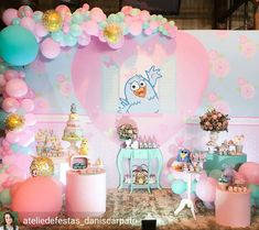 Image may contain: 2 people Kids Party Themes, Birthday Party Themes, Birthday Cake, Colorful Candy, Candy Colors, Birthday Decorations, Princess Peach, First Birthdays, Ideas Cumpleaños