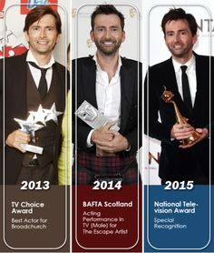 David Tennant and some well-deserved rewards.