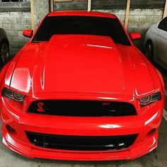 Bright Red Mustang Cobra