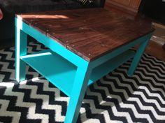 DIY: Ikea Hack Coffee Table {Rose Gold Walls Blog}