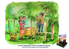 Acuarela: Familia nueva