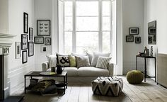 Stick with white walls and neutral furniture -  hot to decorate with neutral