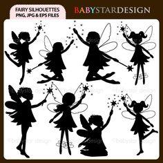 Fairy Silhouettes Digital Clipart. $5.95, via Etsy.