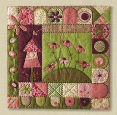 Wool Felt/Penny Rug Patterns Patterns - The Cinnamon Patch - In My Folk Art Garden Penny Rug Patterns, Applique Patterns, Applique Quilts, Quilt Patterns, Small Quilts, Mini Quilts, Quilting Projects, Quilting Designs, Miniature Quilts