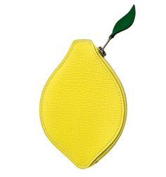 HERMES : Yellow LeatherPorte