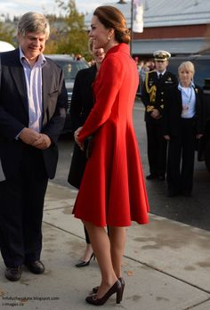 The Duke and Duchess of Cambridge had an early start in Whitehorse this morning where they carried out several engagements throughout the da...