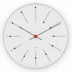 Arne Jacobsen Bankers wall clock from Rosendahl Copenhagen by Arne Jacobsen Arne Jacobsen, Baseball Field Dimensions, Modernisme, Cool Clocks, Spiral Pattern, White P, Design Within Reach, Nordic Design, Design Design