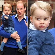 Prince George is adorable in blue outfit as he arrives at Lindo Wing