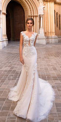 Sheer Wedding Dress, Western Wedding Dresses, Wedding Dresses 2018, Lace Mermaid Wedding Dress, Bohemian Wedding Dresses, Gorgeous Wedding Dress, Mermaid Dresses, Bridal Dresses, Pronovias Wedding Dress