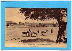 MAROC - MARRAKECH- Le Méchouard Du Sultan  LL  Animé--années 20 A Voyagé - Marrakech