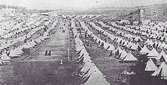 Tented concentration camp during the Anglo Boer War.