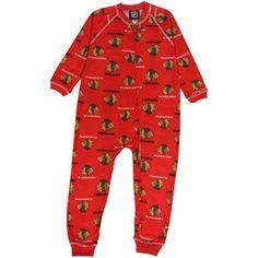 Chicago Blackhawks Toddler Full Zip Allover Print Coverall - Red d9ad0606e