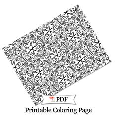 Petal Madness Printable Coloring Page #14 - Terry McClary   | Adult Coloring Page   | Coloring Printable | coloring pages