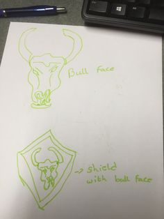 My sketches this is how I started... After deciding that there should be a bull in my logo...!!!
