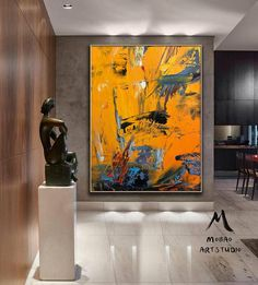 Modern Oil Painting, Yellow Painting, Large Painting, Texture Painting, Your Paintings, Beautiful Paintings, Original Paintings, Grand Art, Portrait Art