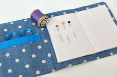 Finished 3 by Very Berry Handmade, via Flickr needle case with tutorial,  like the little pocket inside