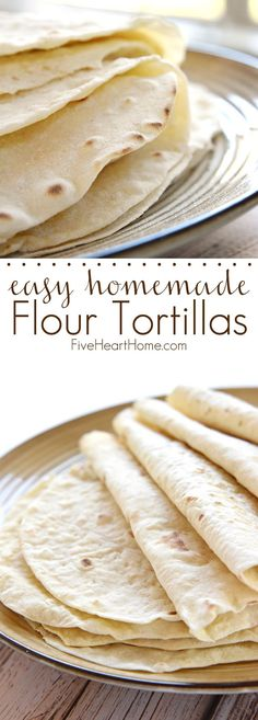 Easy Homemade Flour Tortillas ~ Soft and tender homemade tortillas are deliciously versatile and surprisingly easy to make with just a few simple ingredients!